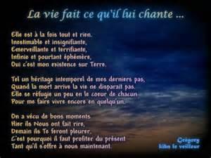 La Vie Poeme by Po 232 Me 171 La Vie Fait Ce Qu Il Lui Chante 187 Le Sommet