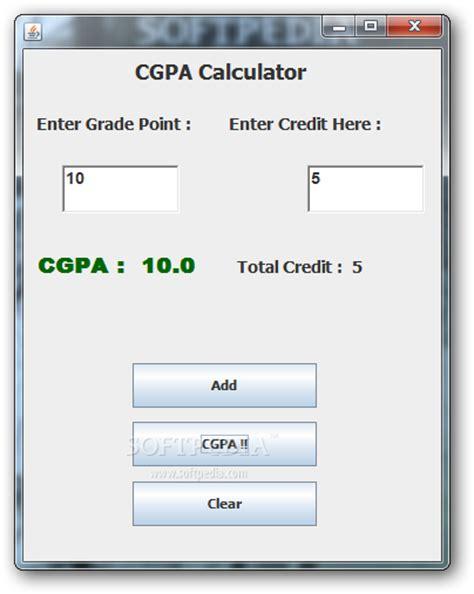 cgpa calculator