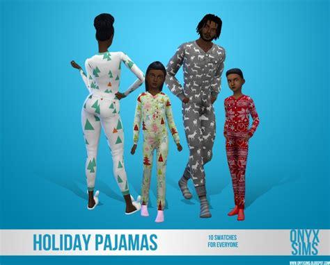 holiday pajamas    onyx sims sims  updates