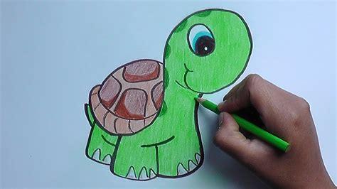 dibujando  pintando  una tortuga drawing  painting  turtle youtube