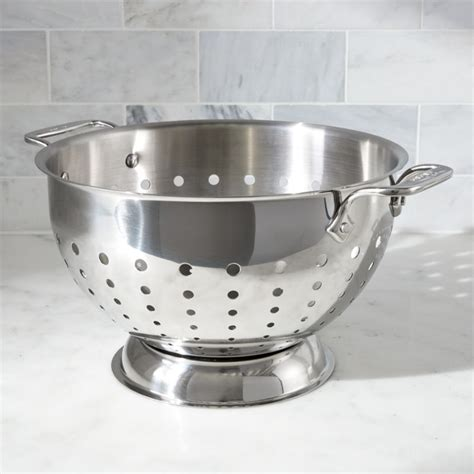 clad  qt stainless steel colander reviews crate