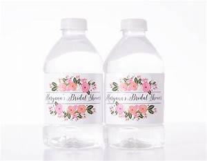 garden badge bridal shower bottled water labels labelsrus With bridal shower water bottle labels free
