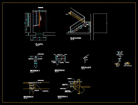 wood staircase  autocad cad   kb