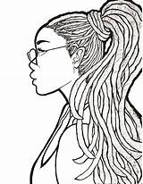 Coloring Portrait Poc Self Dreads Debut sketch template