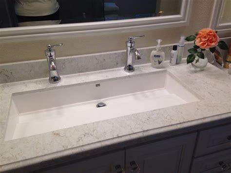 double faucet trough sink sinks awesome undermount trough sink trough bathroom sink