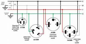 50 Amp Outlet Wiring Diagram 50 Amp Range Outlet Wiring
