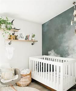 Lit Bébé Bois Et Blanc : 1001 astuces et id es pour choisir un papier peint chambre tendance ~ Teatrodelosmanantiales.com Idées de Décoration