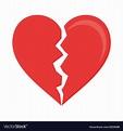 Heart broken symbol Royalty Free Vector Image - VectorStock