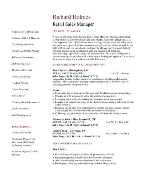 Sales Objective For Resume by Retail Resume Objective 5 Exles In Word Pdf