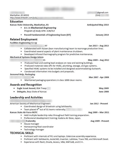 just edited my resume to try to include more technical