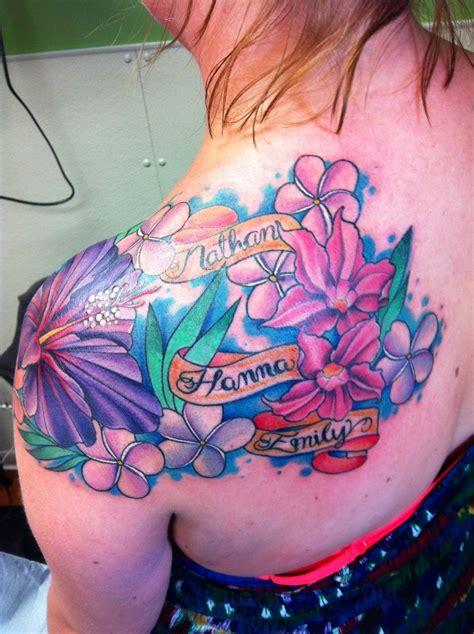 tropical flower tattoo tattoos tattoos flower