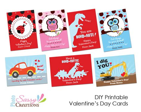 valentines day card kids sassy photo creations diy printable 39 s day cards