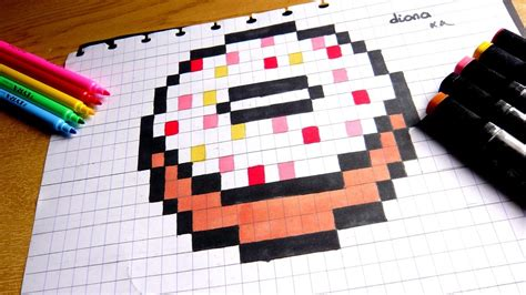 How To Draw Pixel Kawaii Donut