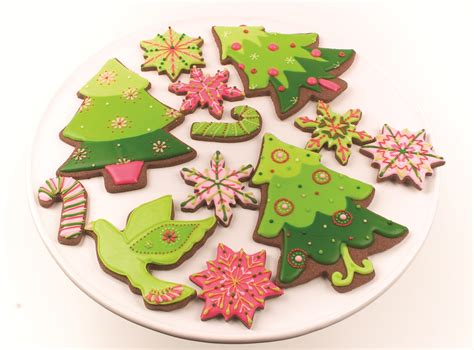 christmas tree cookie decorating