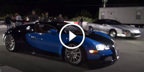 Finally A Bugatti Veyron Drag Race! Veyron Races A Nissan