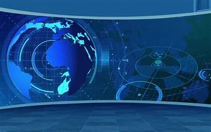 Background Tv Studio Broadcast Screen Desktop Loopable