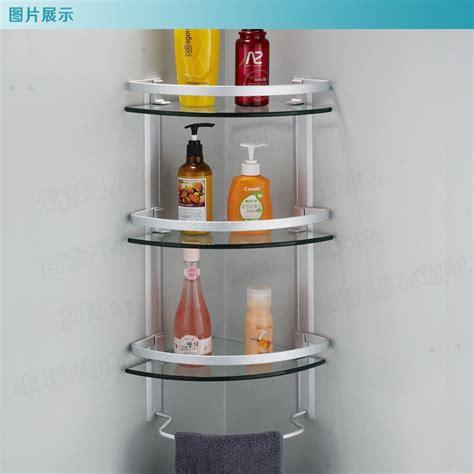 shower corner shelf aluminum 3 tier glass shelf shower holder bathroom