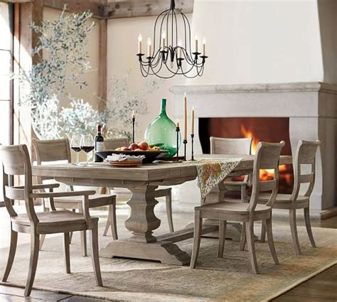 Banks Extending Dining Table, Grey Wash  Pottery Barn