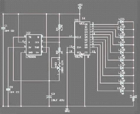 electronic rangkaian led berjalan running led