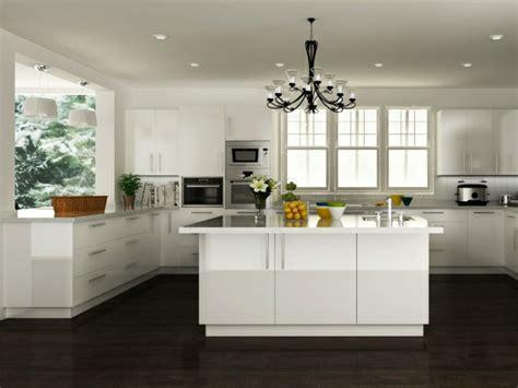 la cuisine blanche laquée en 35 photos qui vont vous inspirer