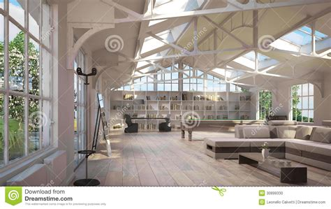 luxury loft interiors stock photo image