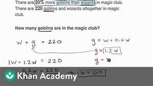 Percent Word Problem Examples