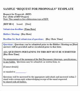 15 Sample Free Request For Proposal Templates Sample Templates