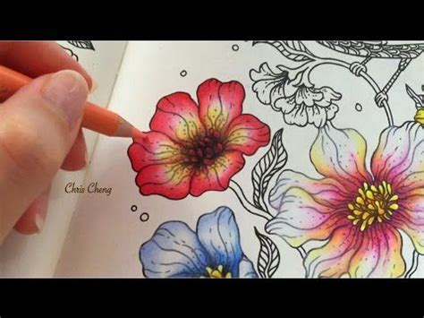flower coloring with colored pencils