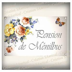 Plaque De Maison Personnalisée : plaque maison personnalis e maill e blanc d cor bouquet ~ Dallasstarsshop.com Idées de Décoration