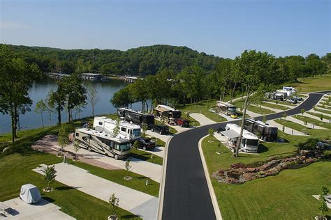 table rock lake rv cing ozarks luxury rv resort on table rock lake near branson mo