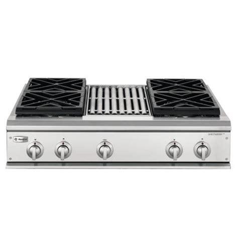 ge monogram  professional gas cooktop   burners  grill liquid propane