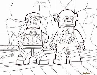 Coloring Pages Superhero Flash Lego Superheroes