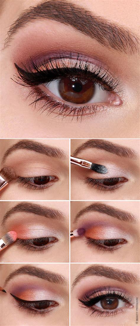 Техника выполнения легкого дневного макияжа для карих глаз