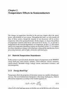 Temperature Effects Of Threshold In Mos