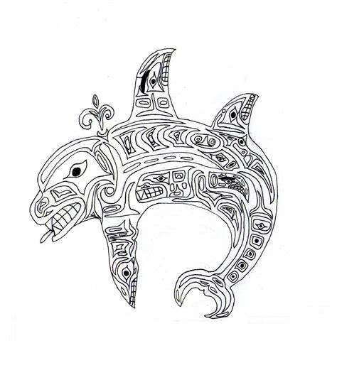 native american whale lineart  titanium alex  deviantart