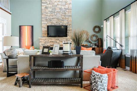 Brown Teal Orange Living Room 1025thepartycom