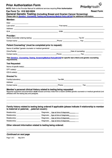 health options prior authorization form fillable prior authorization form priority health