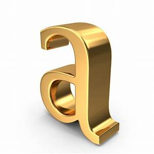 gold small letter a png images psds for download With small gold letters