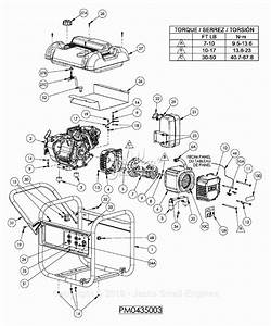 Powermate Formerly Coleman Pm0435003 Parts Diagram For Generator Parts