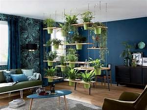 realiser une cloison vegetale leroy merlin With salle de bain design avec décoration végétale intérieur