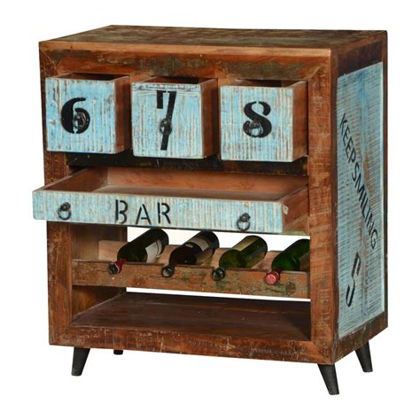 Cabinet Number by By The Numbers Reclaimed Wood Wine Rack Bar Cabinet