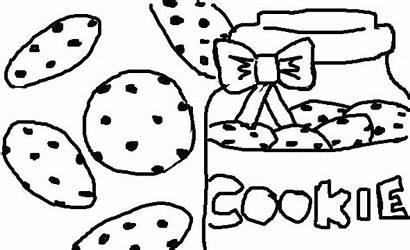 Cookie Coloring Chocolate Jar Chip Cookies Template