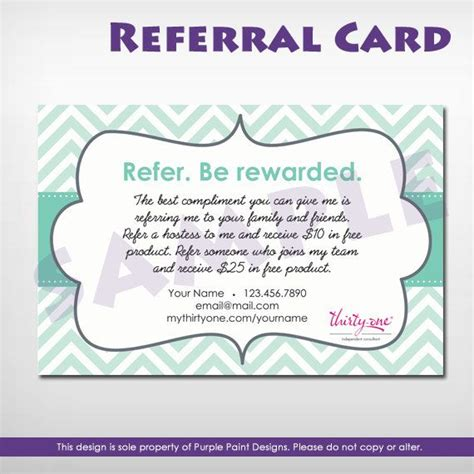 referral card recruit thirty one related keywords recruit thirty one keywords keywordsking