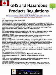 ghs and hazardous products regulations With ghs regulations