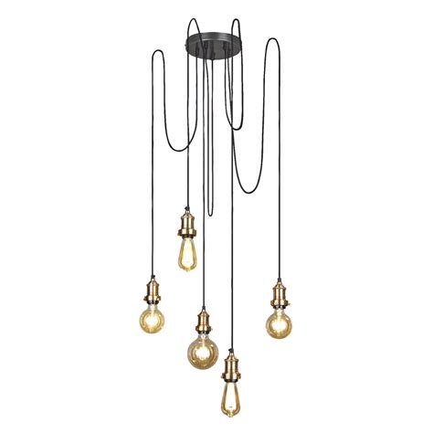 vintage 5 wire pendant light industville