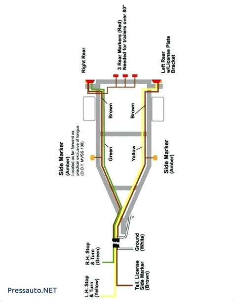 Trailer Wiring Light Diagram by Wiring Diagram For Trailer Light 4 Way