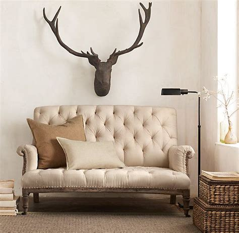 Restoration Hardware Settee by 1890 Stag Rust Stag Heads Home Decor Decor Settee