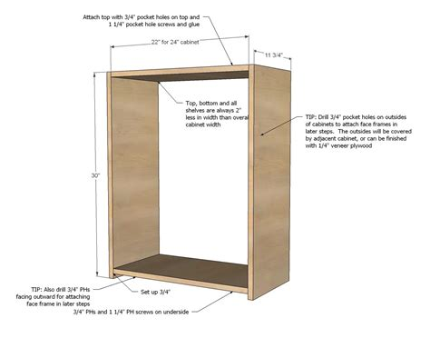 wall kitchen cabinet basic carcass plan outdoor project