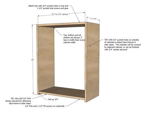 ana white build  wall kitchen cabinet basic carcass