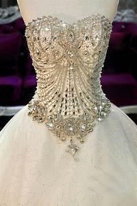 Jeweled corset wedding dress beautiful weddings for Corset top wedding dress